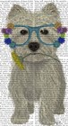 West Highland Terrier Flower Glasses by Fab Funky art print