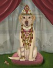 Yellow Labrador and Tiara, Full by Fab Funky art print