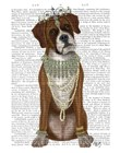 Boxer and Tiara, Full by Fab Funky art print