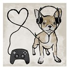 Gaming Chihuahua by Marcus Prime art print