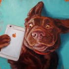 Dog Selfie by Lucia Heffernan art print