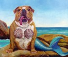 Mermaid Dog by Lucia Heffernan art print
