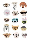 Dogs with Glasses by Hanna Melin art print