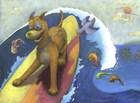 Surf Dog by Alvina Kwong art print