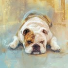 Bulldog With The Blues by Jai Johnson art print