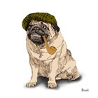 Pugs in Hats II by Bannarot art print