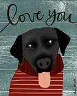 Love You Lab by Katie Doucette art print