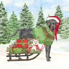 Dog Days of Christmas II Sled with Gifts by Tara Reed art print