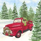 Dog Days of Christmas IV Truck by Tara Reed art print