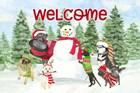 Dog Days of Christmas - Welcome by Tara Reed art print