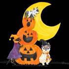 Fright Night Friends IV Pumpkin Stack by Tara Reed art print