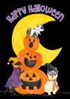 Fright Night Friends - Happy Halloween III by Tara Reed art print