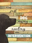 Dog Intervention by Marla Rae art print