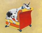 Great Dane on Orange by Carol Dillon art print