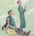 Soaring Spirits by Norman Rockwell art print