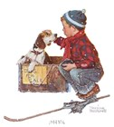 A Boy Meets His Dog by Norman Rockwell art print