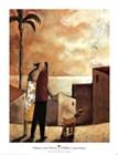 Paseo con Perro by Didier Lourenco art print