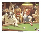 The Hustler by Arthur Sarnoff art print