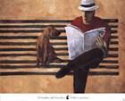 El Hombre del Periodico by Didier Lourenco art print