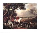 Hunt in the Park in Fountainbleau by Carle Vernet art print