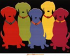 Five Labs by Jim Williams art print