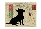Chihuahua Silhouette by Nancy Shumaker art print
