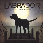 Moonrise Black Dog - Labrador Lake by Ryan Fowler art print