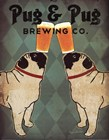 Pug and Pug Brewing by Ryan Fowler art print