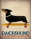 Dachshund Longboards by Ryan Fowler art print