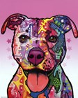 Cherish The Pitbull by Dean Russo art print