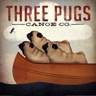 Three Pugs in a Canoe v by Ryan Fowler art print