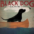 Black Dog Canoe by Ryan Fowler art print