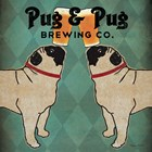 Pug and Pug Brewing Square by Ryan Fowler art print