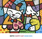 Happy Cat and Snob Dog by Romero Britto art print