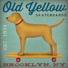 Golden Dog on Skateboard by Ryan Fowler art print