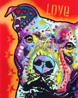 Thoughtful Pitbull 2 by Dean Russo art print