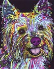 Yorkie by Dean Russo art print
