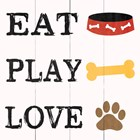Eat Play Love - Dog 2 by Louise Carey art print