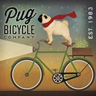 Pug on a Bike by Ryan Fowler art print
