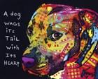 Gratitude Pitbull by Dean Russo art print