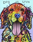 Dog Is Love by Dean Russo art print