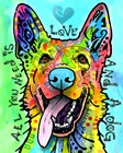 Love And A Dog by Dean Russo art print