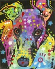 Curious Greyhound by Dean Russo- Exclusive art print