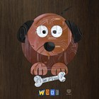 Woof The Dog by Design Turnpike art print