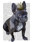 French Bulldog King by Fab Funky art print