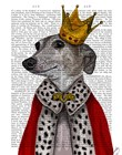 Greyhound Queen by Fab Funky art print