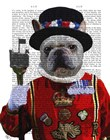 Bulldog Beefeater by Fab Funky art print