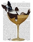 Boston Terrier in Cocktail Glass by Fab Funky art print