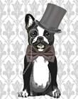 Monsieur Bulldog by Fab Funky art print