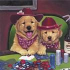 Poker Dogs by Jenny Newland art print